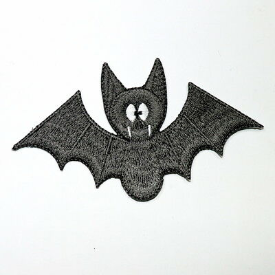 Grey Vampire Bat Animal dracula Cartoon Helloween DIY Cloth Jacket Iron on patch