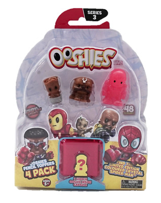 Ooshies Marvel Figures Pencil Toppers 4 Pack - Series 3 Set 4