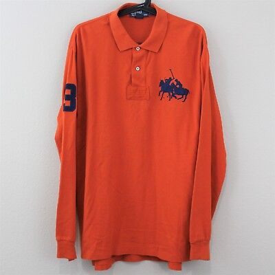a852d70ad6c37a ... inexpensive vtg polo ralph lauren big pony vented collared polo shirt  mens large j139 d3b0f ab798