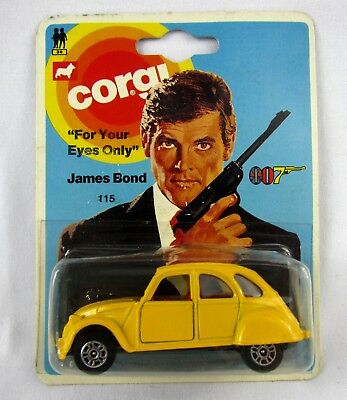 Corgi Junior 115 James Bond 007 Citroen 2CV - Yellow Sealed Vintage 1976 New