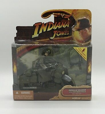 Hasbro Indiana Jones Last Crusade German Soldier With Motorcycle Sealed