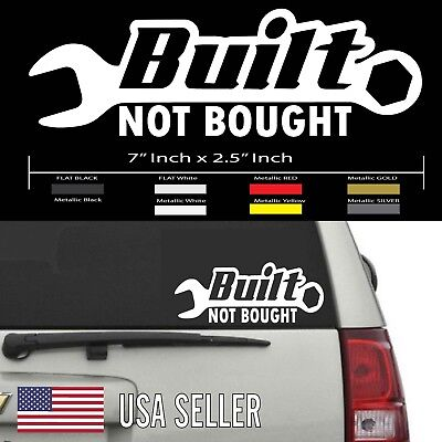 Built Not Bought Jeep Wrangler Sahara CJ Willy/'s Decal Sticker #460