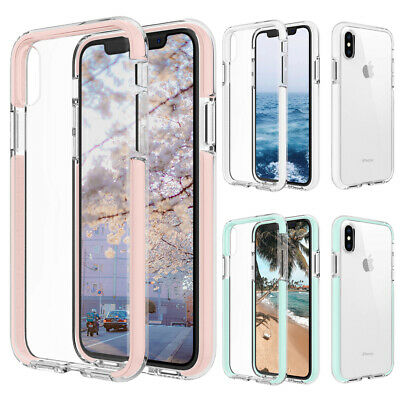 For iPhone 8 7 Plus XS Max Case Clear Thin Cute Soft Silicone Shockproof Cover