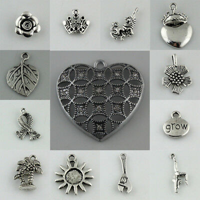 93 Style Tibetan Charm Pendants Beads DIY Jewelry Findings Silver Necklace