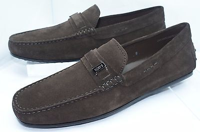 bdce6e1f964 New Tod s Mens Shoes Brown Loafers Size 7.5 Driver Mocassino Plastrina Slip  On
