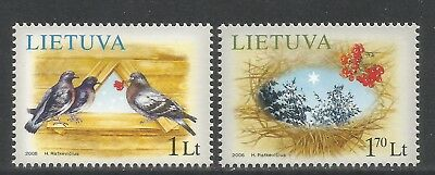 Lithuania 2006 Christmas/Holiday Scenes--Attractive Art Topical (822-23) MNH