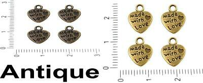 GC1333 5 Wave Connector Charms Gold Tone 2 Sided