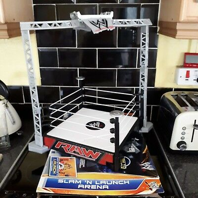 c67bc26a8259 MATTEL WWE WRESTLING ring slam n launch arena - £10.00 | PicClick UK