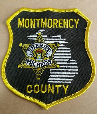 Montmorency County, Michigan Sheriff (Police) Shoulder Patch Mi