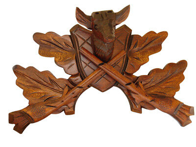 New German Made Wood Cuckoo Clock Case Deer Crown - Choose from 4 Sizes!