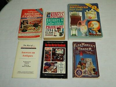 6 Antiques & Collectibles PB Price Guides Warman's'91 Kovels'94 Schroeder's'00