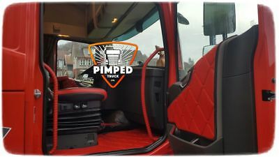 Door cards Volvo FH4 ECO LEATHER Red, available smooth
