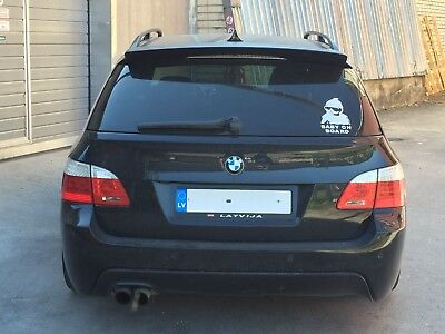 For BMW E61 Touring Performance Aerodynamic Roof spoiler Trunk lip boot cover