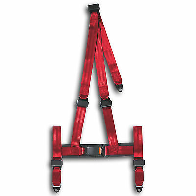Sport Harness 3 point CAR Racing Seat Belts  E marked Safety Belt red NEW BRAND