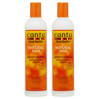 "Cantu Shea Butter Moisturizing Curl Activator Cream 12oz ""Pack of 2"" w/Nail File"