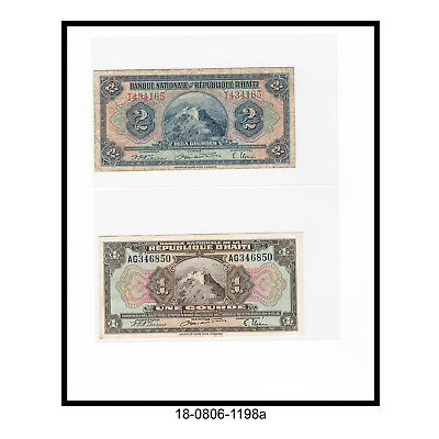 Lot of Two Haiti 4th. Issue Bank Notes (1946-50)