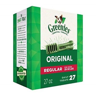 Greenies Dental Chews Canine Treat Tub Pak New Formula 27oz (27 Treats) Regular