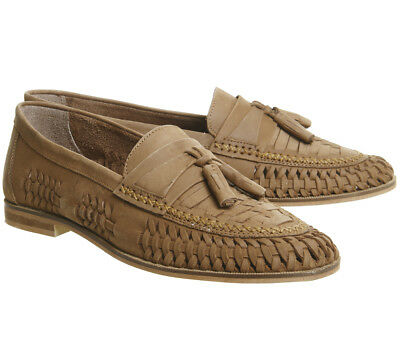 bc4c805444 RRP - £65 Mens Leather Smart Formal Summer Office Slip On Loafers Shoes Tan  NEW
