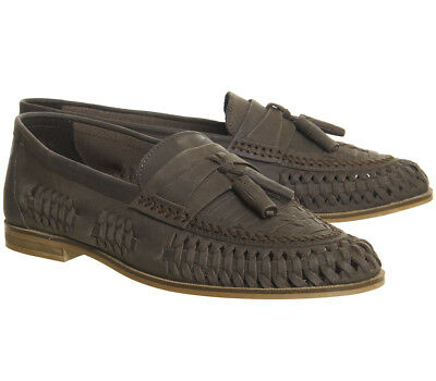 1c4b72dfe2 RRP- £65 Mens Leather Smart Formal Summer Office Slip On Loafers Shoes  Chocolate