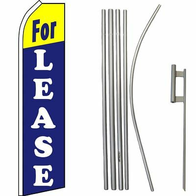 Twin Pack Swooper Flags /& Pole Kits AUTO TINTING Black Silver with Yellow Text