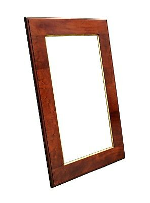 "LARGE Antique Mahogany Frame w/ Gilded Fillet, 28 3/4"" X 43 3/4"" Overall"