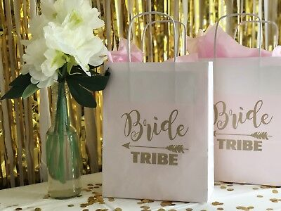 4 X Hen Party/Bridal Party Gift Bags Paper Bride Tribe Gold Classy Accessories