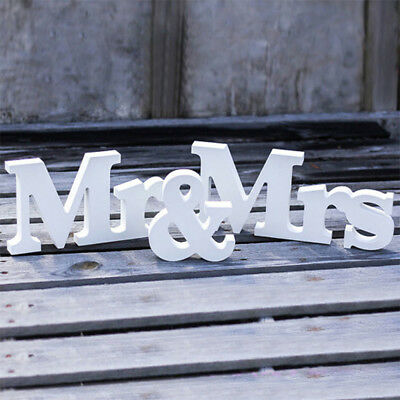 Wedding Sign Mr & Mrs Letters White Wooden Letters Birthday Party Decorations