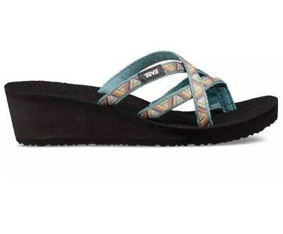e9ac09b18 Teva Womens Sandals Mush Mandalyn Wedge Ola 2 Agave North Atlantic Size 8