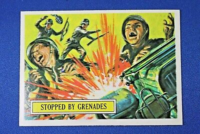 1965 Topps Battle Cards - #25 Stopped By Grenades - NrMt-Mt