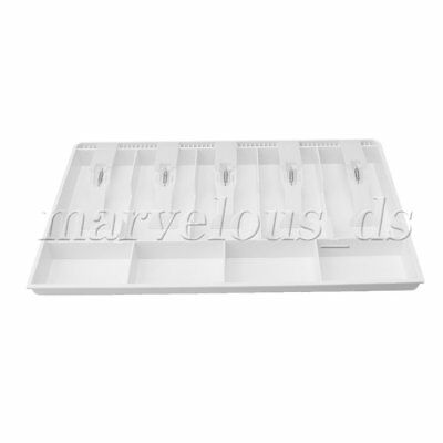 Coin Bills Tray Cash Drawer Box Money Tray 5 Bills 4 Coins Storage Box White
