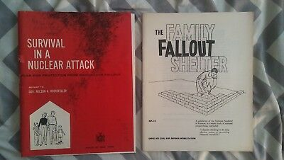 2 NY Cold War guides The Family Fallout Shelter + Survival in  a Nuclear Attack