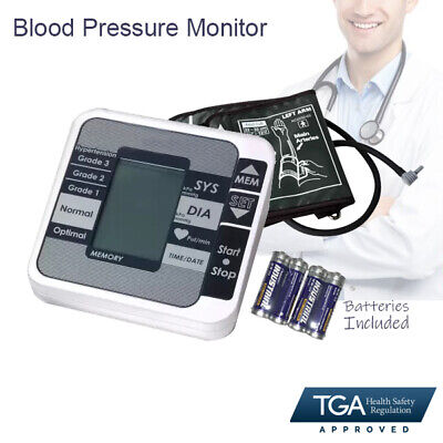 2018 Automatic Digital Upper Arm Blood Pressure Monitor LCD Display ARTG Approve