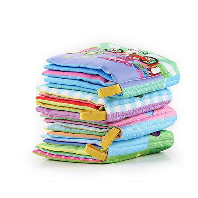 Baby Kids Soft Cloth Book Intelligence Early Development Learn Cognize Book 6m+