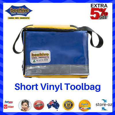 Beehive Short Vinyl Carry Toolbag Heavy Duty Reflective PVC Ripstop Vinyl