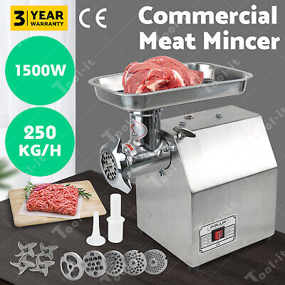 Commercial Meat Mincer -  Electric Grinder & Sausage Maker Filler 1.63HP 1200W