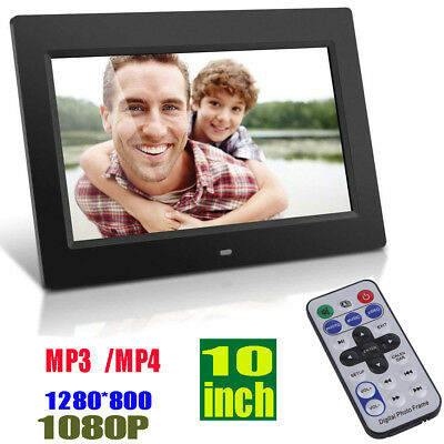 Digital Picture Frames Frame, 10 Inch LED Photo 1080P HD Resolution Desktop MP4