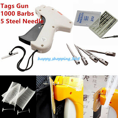 Tag Gun Machine Clothes Garment Price Label Tagging +1000 Barbs+5 Steel Needle