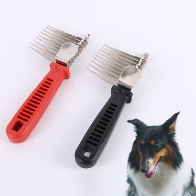 Professional Pet Puppy Dog Cat Hair Grooming Brush Comb Dematting Tool Black New
