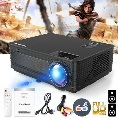 """5000Lumens 120"""" HD Video Display Full HD 1080P M5 LED Projector for Home Theater"""