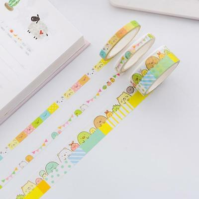 3pc/pack Cute Cartoon Sumikko Gurashi Washi Tape DIY Masking Tape Office HOT