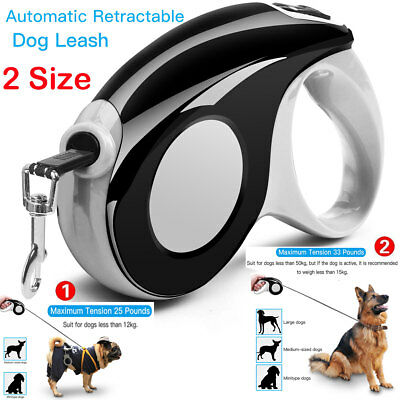 Automatic Retractable Dog Leash Pet Collar, 10ft 16ft for dogs up to 33 lbs 15kg