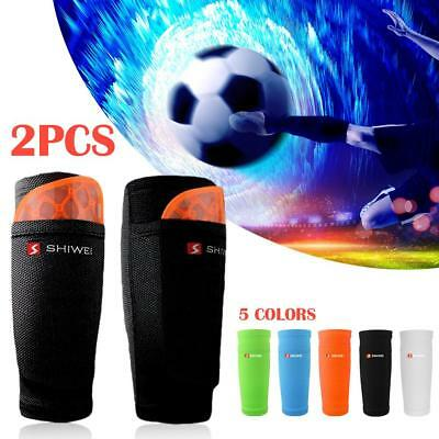1 Pair Soccer Protective Socks With Pad Pocket Football Shin Sleeves Shin Guard