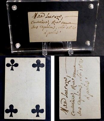 XVIII Century Secondary Use Quill Scripted Document Antique Playing Cards Single
