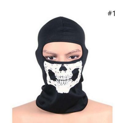 NEW Skull Facial Mask For Motorcycle Ski Snowboard Bike Motocross Sport HOT