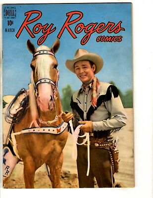 Roy Rogers # 15 VF 1949 Dell Golden Age Comic Book Photo Cover Western JL14