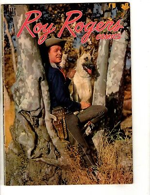 Roy Rogers # 12 FN 1948 Dell Golden Age Comic Book Photo Cover Western JL14