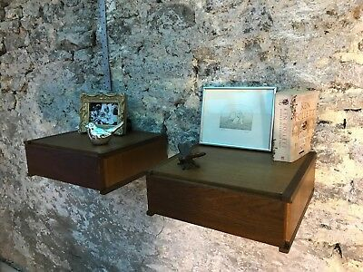 A Pair Of Teak Bedside Tables From Tapley 33. Danish Style. Vintage, Midcentury