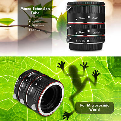 13/21/31mm Auto Focus Macro Extension Tube Ring for Canon EOS EF/EF-S Mount Lens