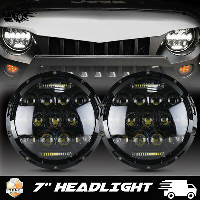 7''  Inch Round LED Projector Headlights HeadLamps H4 Fit Volkswagen Beetle 2PCS