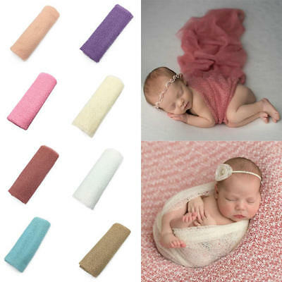 Baby Photography Props Blanket Wraps Stretch Knit Wrap Newborn Photo Wraps Cloth